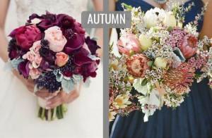 پاییز, دسته گل عروس, انتخاب گل برای فصل پاییز