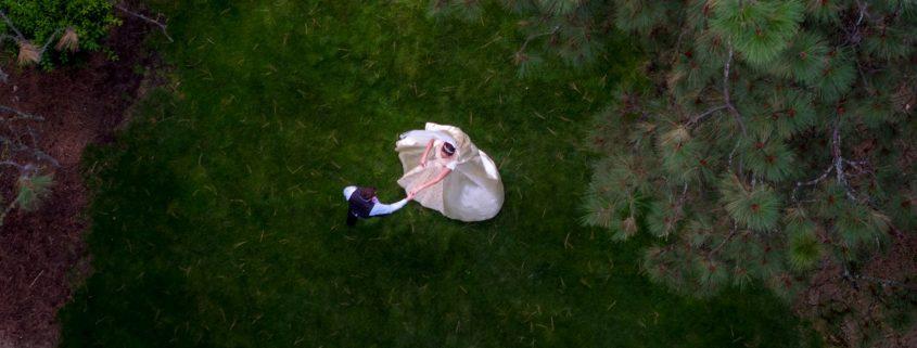 تصویربرداری هوایی از مراسم عروسی